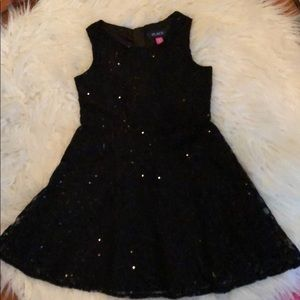 Girls black sequin dress